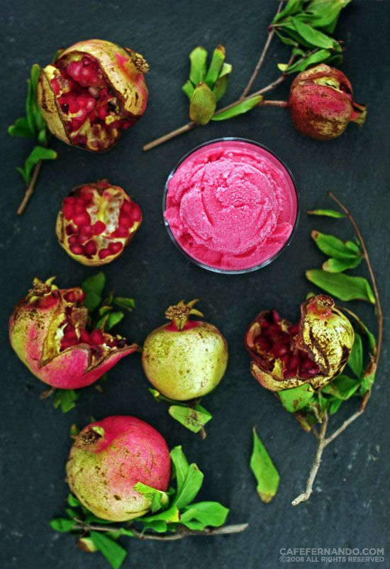 pomegranate sorbet