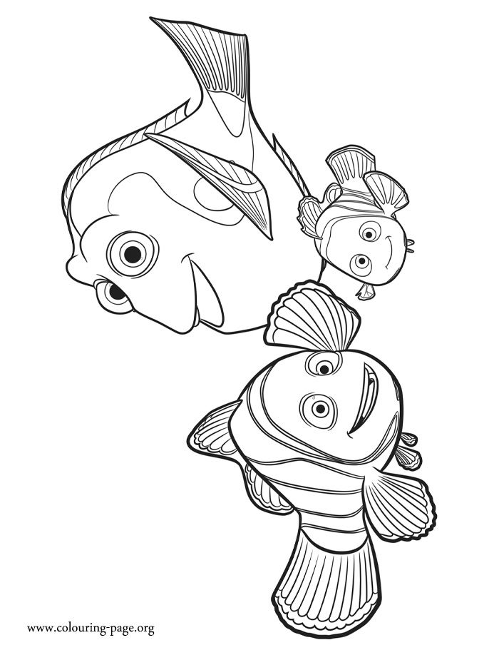 While you waiting for the upcoming Disney movie Finding Dory, come check out this free coloring page from Marlin, Nemo and Dory! Enjoy!
