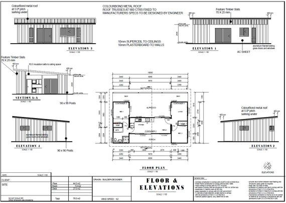 2 Bedroom Container Home Concept Plan 840sq Foot 78 M2 Etsy Shipping Container House Plans Container House Plans Container House