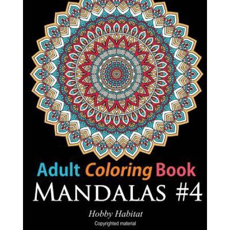 Adult Coloring Book Mandalas 4 For Adults Featuring 50 High Definition