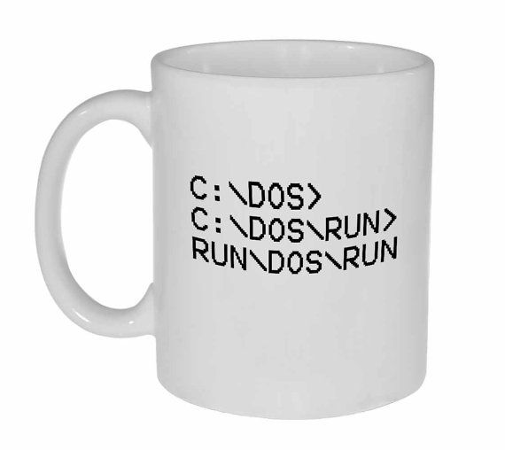 C DOS RUN Coffee or Tea mug by NeuronsNotIncluded on Etsy