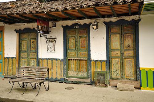 Colombian coffee farm.  Armenia. Quindio. Eje Cafetero.