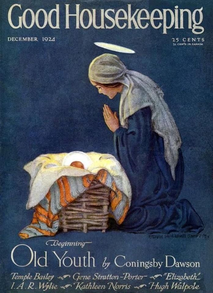 Cover of Good Housekeeping Magazine 1924 - Our Lady & baby #Jesus #Catholic #Christian