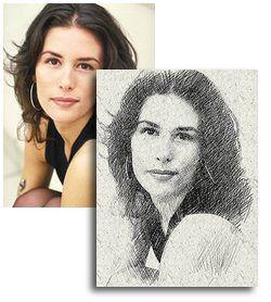Photo to Pencil Sketch technique Photoshop effect http://www.graphic-design.com/Photoshop/pencil_sketch/index.html