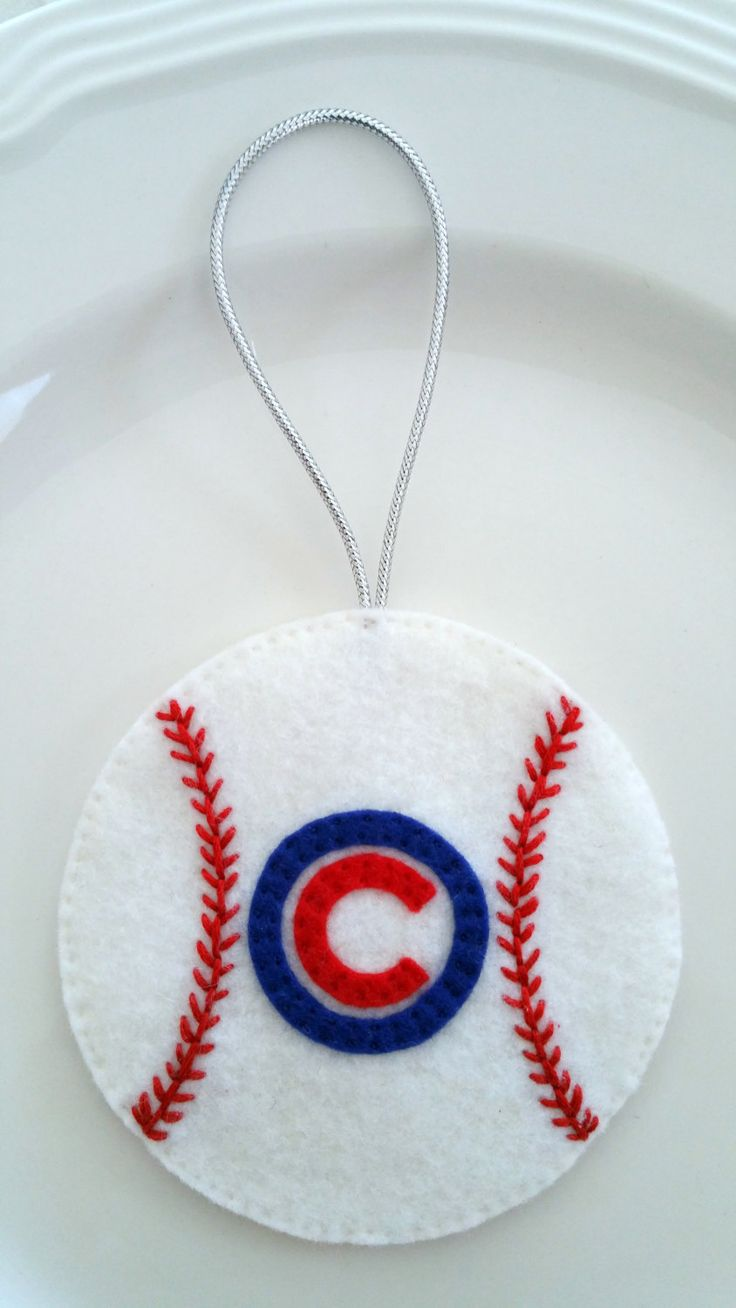 Felt Christmas Ornament – Chicago Cubs Baseball - pinned by pin4etsy.com