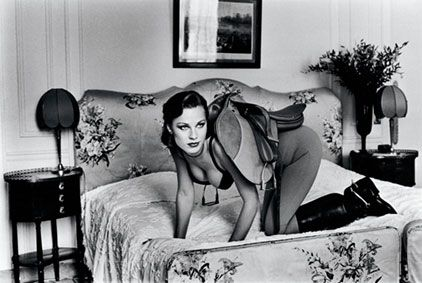 Saddle from the series Sleepless Nights Paris 1976 © Helmut Newton Estate