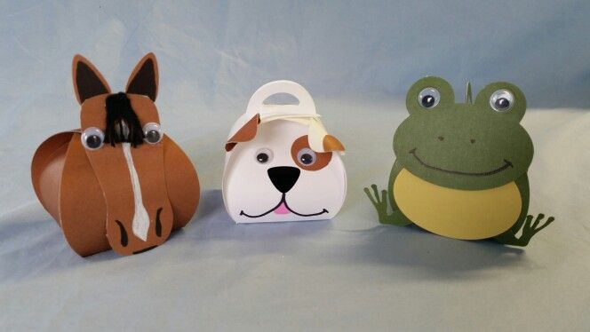 Cuteness overload made from curvy boxes and shapes cut out on my silhouette and with standard dies...love googly eyes!