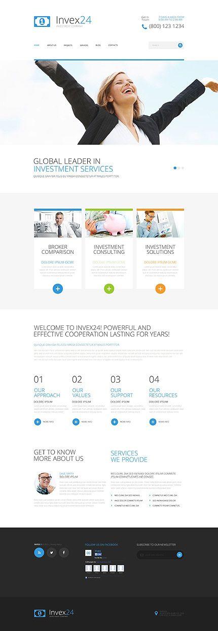 responsives und SEO-freundliches WordPress Theme für Investmentgesellschaften