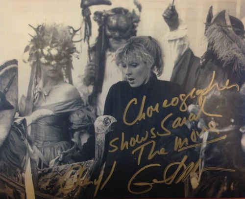 """muppetmayhem:  """" The lovely Gates McFadden, actress and cheorographer for Labyrinth is selling this photo signed by her (Cheryl Gates McFadden) on ebay!  Click to bid, five days left!  """"  OH MY GOD"""