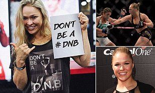 Ronda Rousey markets T-shirts with her signature slogan for charity | Daily Mail Online