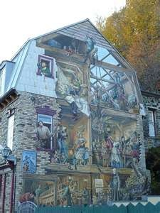1000 images about old quebec city on pinterest statue for Mural quebec city