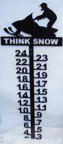 Snow Gauge - Standing Snowmobiler - Choose Phrase