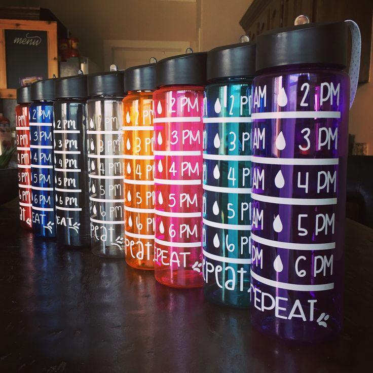 Water intake tracker, water bottle, motivational water bottle, protein shaker, sport bottle, personalized tumbler by PaolaBrownShop on Etsy https://www.etsy.com/listing/265380454/water-intake-tracker-water-bottle