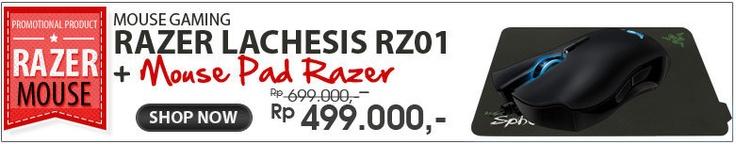 PROMO !!!    http://www.razerzone.com/gaming-mice/razer-lachesis    Normal Price Rp 699.000,-