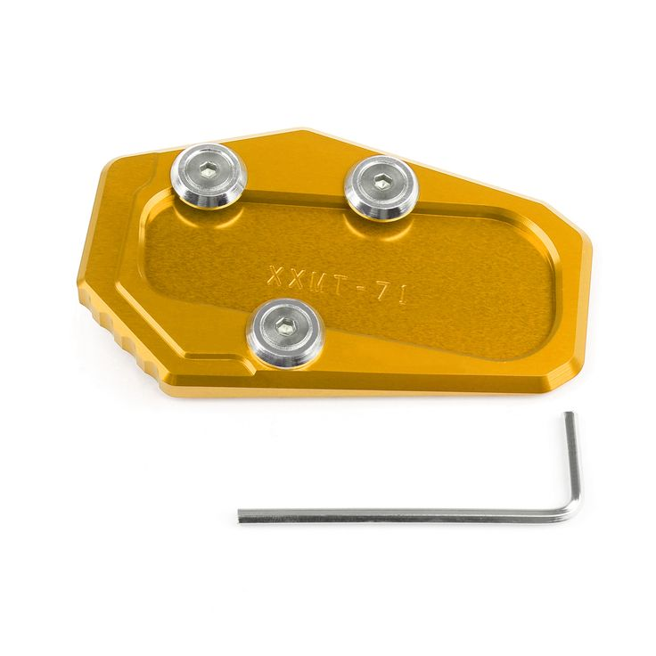 Mad Hornets - Side Pad Kickstand Stand Extension Plate BMW R1200RT (2014-2015), Gold, $23.99 (http://www.madhornets.com/side-pad-kickstand-stand-extension-plate-bmw-r1200rt-2014-2015-gold/)