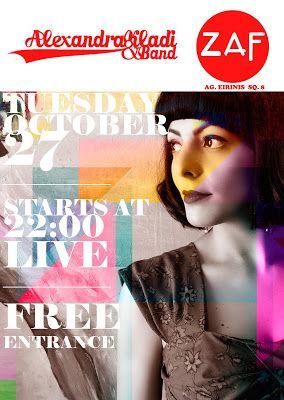 Alexandra Kladi: Alexandra Kladi & Band Live @ ZAF 27/10/15
