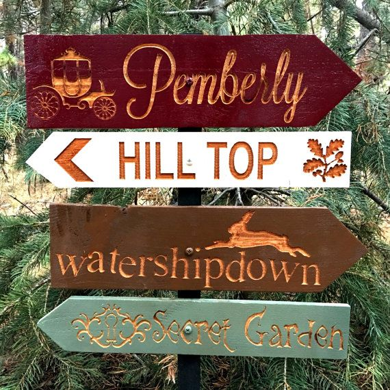 Classic Literature Story Directional Signs Pemberley