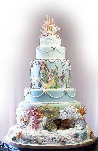 Diary Of A Landlocked Mermaid Cake Disney Cakes Themed