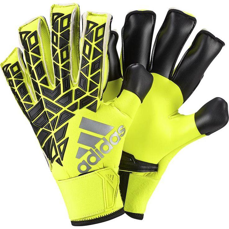 adidas Ace Fingersave Goalkeeper Gloves (Solar Yellow ...