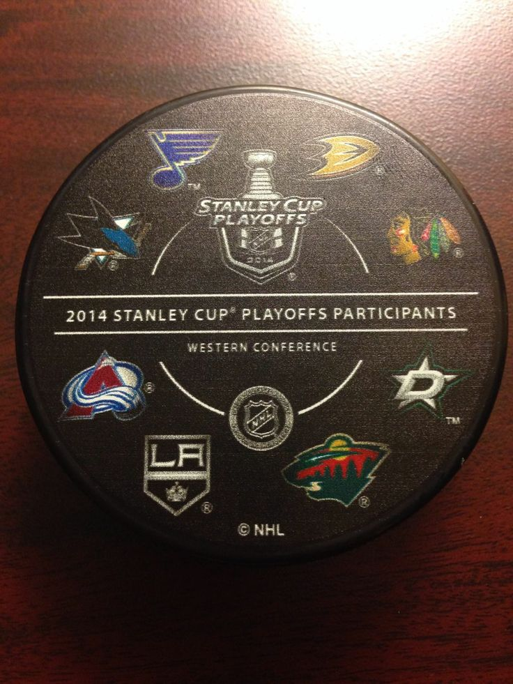 2014 NHL Stanley Cup Playoff Puck Western Conference All Teams   eBay