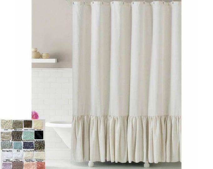 Blue Jeans Pocket Denim Shower Curtain Extra Long Fabric Shower