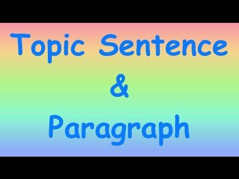 How to Write Basic Topic Sentences & Paragraphs ESL - YouTube