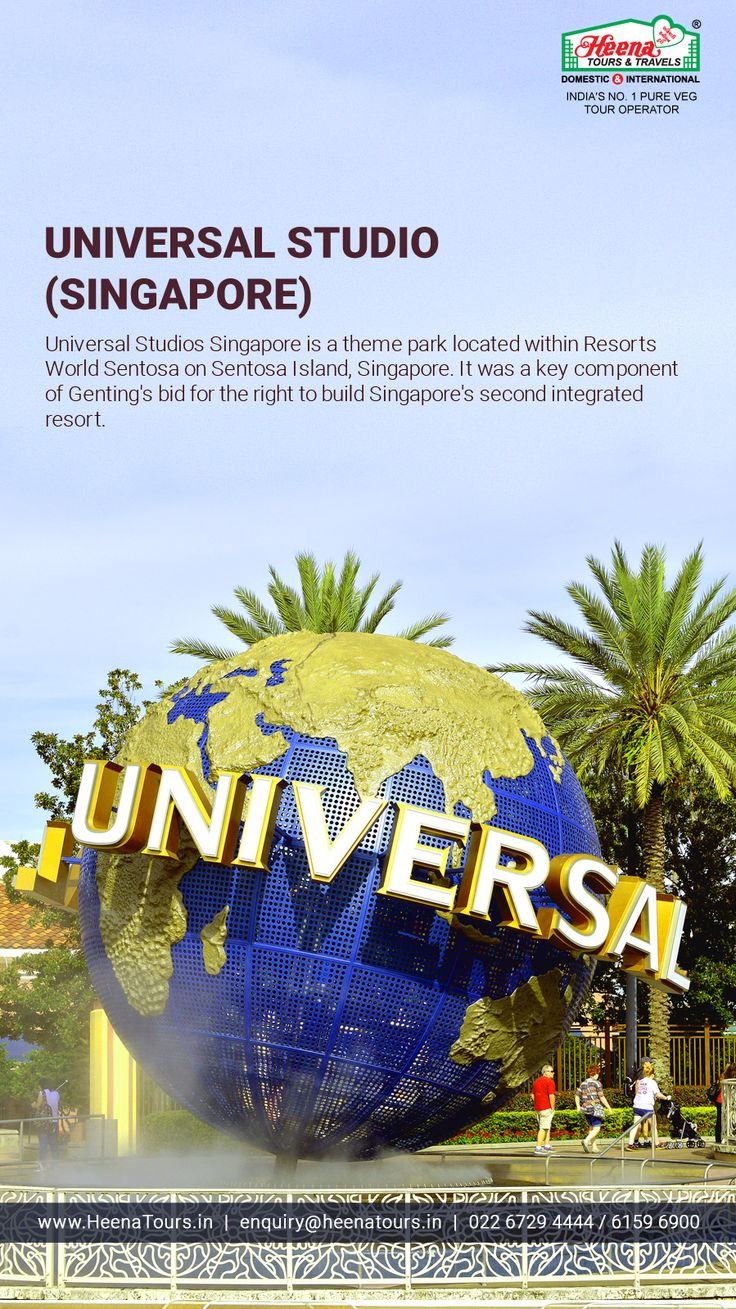 Universal Studio (Singapore)..!!  Universal Studio is a theme park located within Resorts World Sentosa on Sentosa Island, Singapore. It was a key component of Genting's bid for the right to build Singapore's second integrated resort.