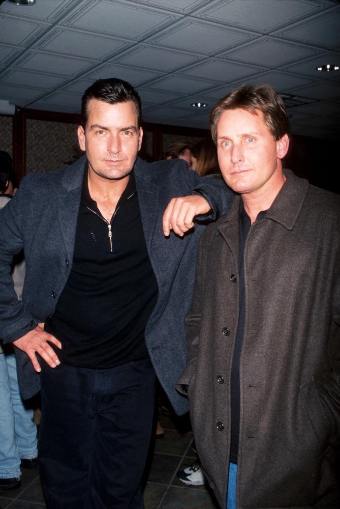 Charlie Sheen and Emilio Estevez