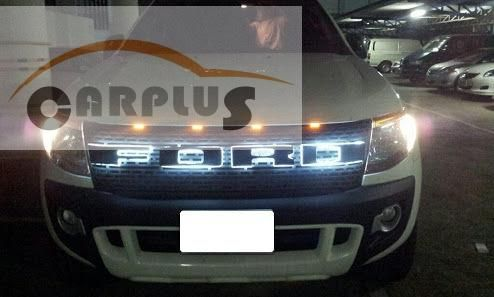 2012 for ford ranger LED grills ABS black front grill suitable Ford Ranger wildtrak 2012 pickup rangers decorative grills free #Affiliate