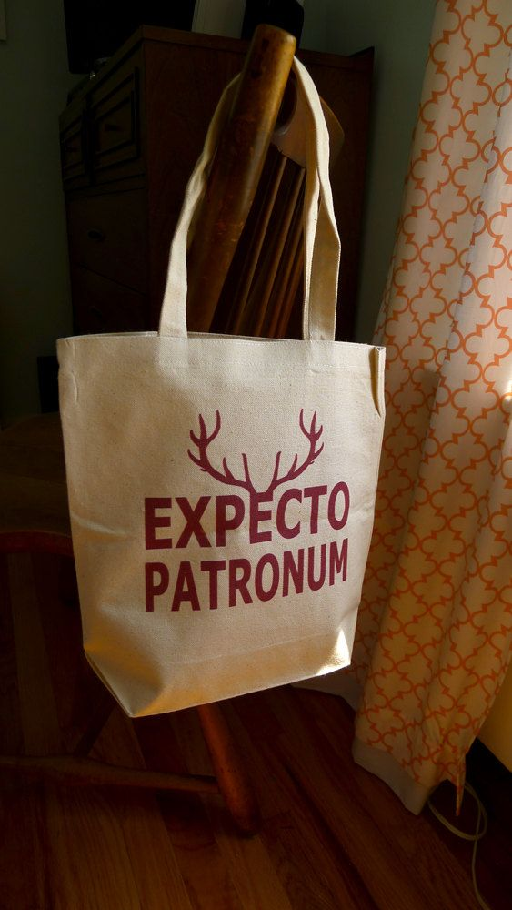 Harry Potter tote bag, Expecto patronum, Harry potter, hogwarts, hogwarts school, patronus on Etsy, $14.00