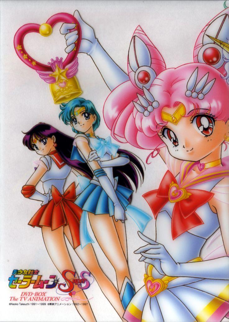 Sailor Mars, Sailor Mercury and Sailor Chibi Moon