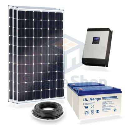 kit solaire 600w 220v complet autonome avec batterie 2. Black Bedroom Furniture Sets. Home Design Ideas