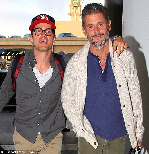 Historic moment: Matt Bomer and his husband Simon Halls were spotted smiling at LAX on Fri...