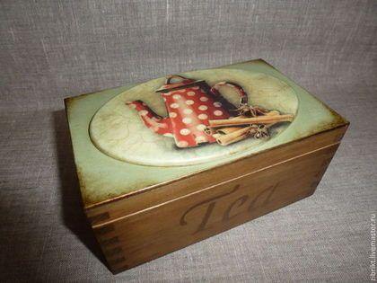 "Чайная коробка ""Старый чайник"" - чайная коробка,шкатулка для чая,чай,хранение чая"
