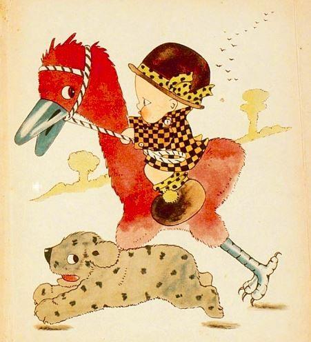 Chloe Preston / Van Tobbie, Tibbie en kleine Tom illustration from a book on the Geheugen van Nederland