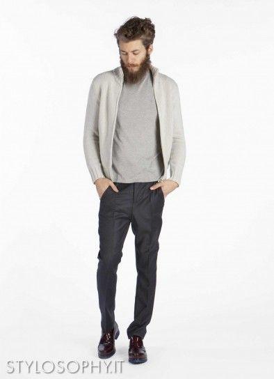 Cardigan bianco sporco di Dondup, pantalone