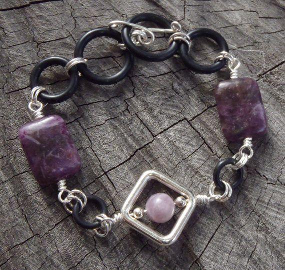 Trendy Purlesque Bracelet  Handmade with Purple by BrigittesJewels, $42.00