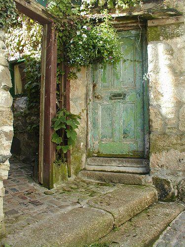 color paletteTurquoise Door, The Doors, Green Doors, Secret Gardens, Blue Doors, Rustic Doors, Gardens Doors, Old Doors, Shades Of Green