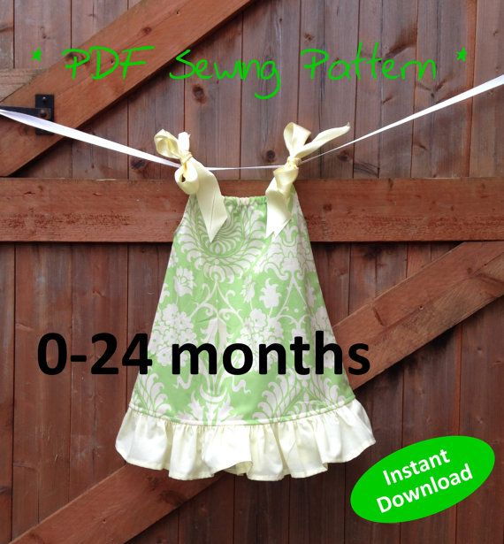 Adorable Baby Girl\u0027s Pillowcase Dress pattern for 0 to 24 months - PDF sewing pattern & 25+ unique Pillowcase dress pattern ideas on Pinterest | Pillow ... pillowsntoast.com