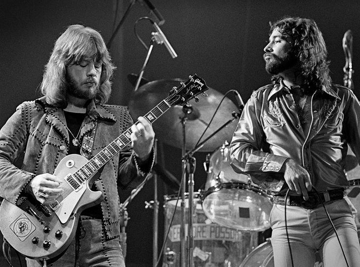 Atlanta Rhythm Section's Berry Bailey & Ronnie Hammond ca. 1975-76 - photo by John Gellman