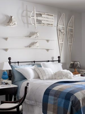Modern Western Guest Room Fresh White Decors Add New Life To Rustic
