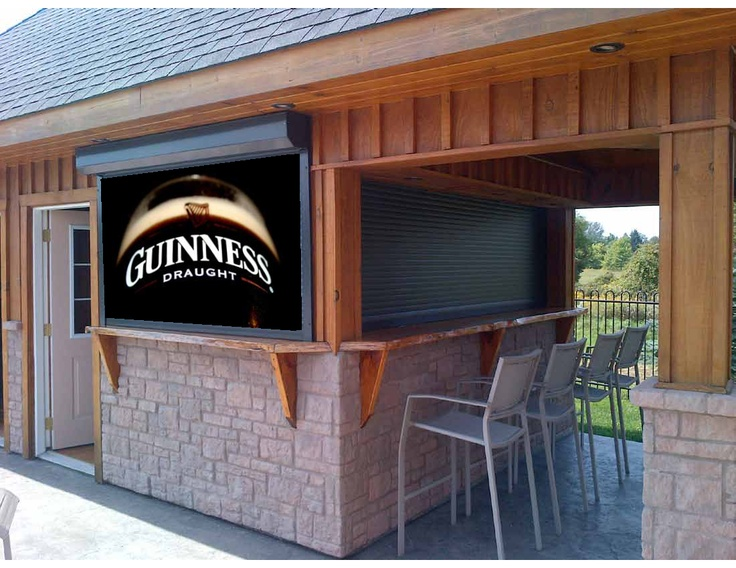 Even roll shutters for residential use can be dressed up.  With a cabana shutter, add your favourite beer logo!