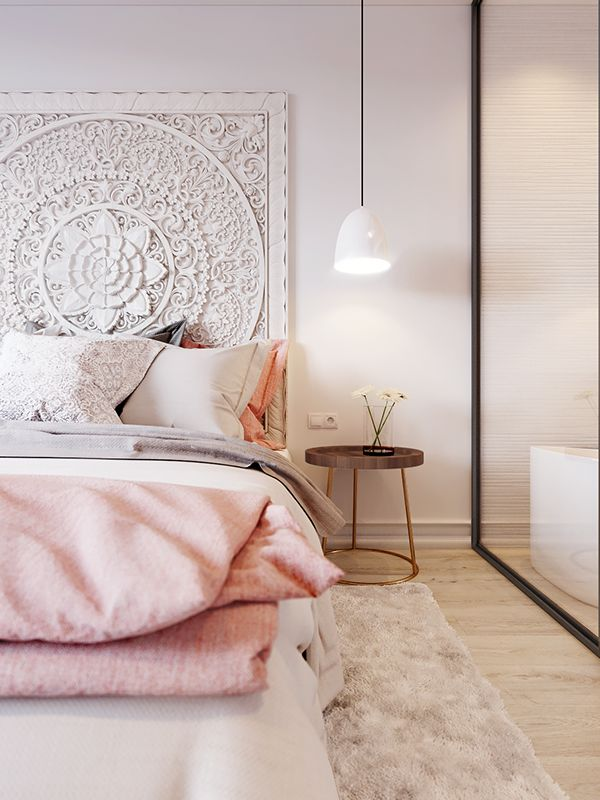 """Pink & White"" is another concept design small apartment in Kiev."