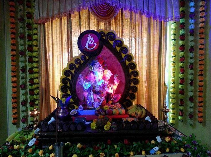 Best 25 Ganesh Chaturthi Decoration Ideas On Pinterest