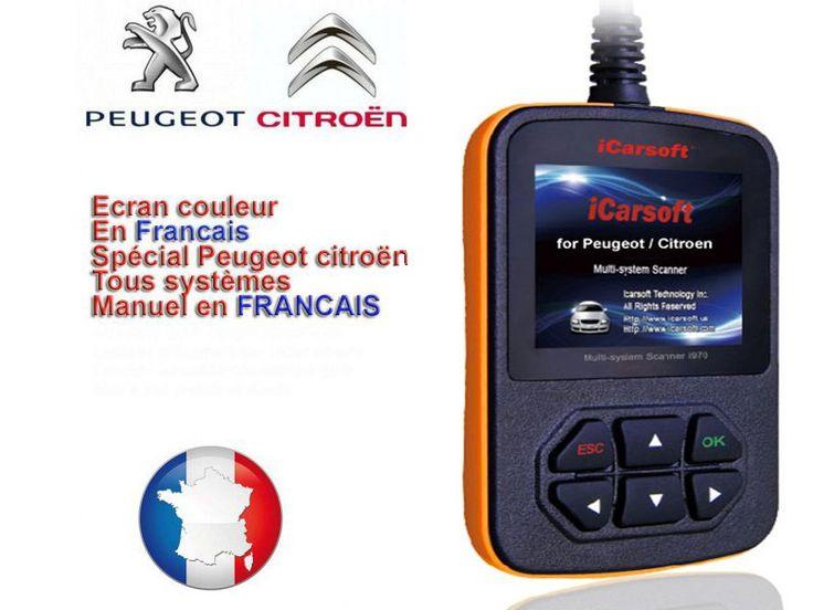 Diagnostic icarsoft Peugeot Citroën i970  est un outil de diagnostic professionnel tous systèmes, couvre les véhicules de 1996 à 2014. Permet de diagnostiquer tous les systèmes et etiendre ou réinitialiser tous les voyants tableau de bord.