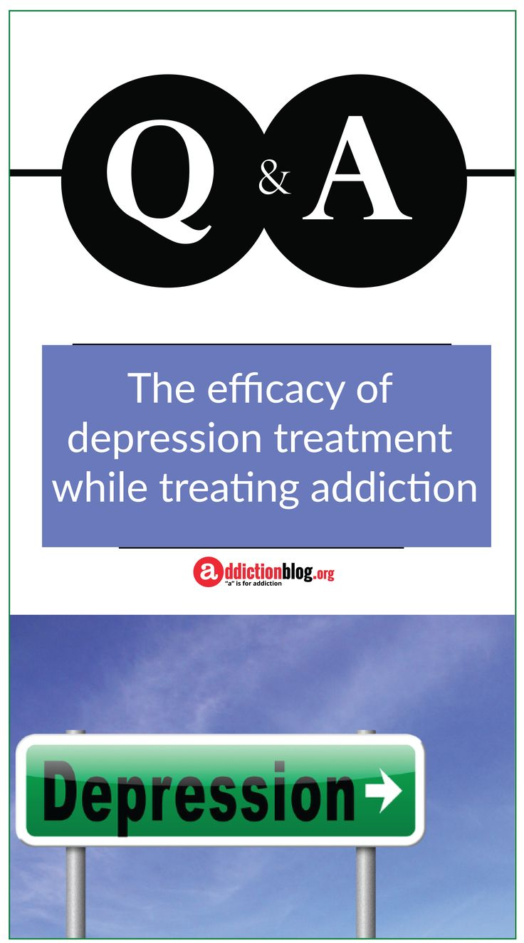 """How does #cooccurring or #dualdiagnosis treatment for depression work in tandum with treatment for addiction? Are the current methods effective?  The main benefits of addressing #depression and #addiction at the same time include resolving some of the main symptoms associated with these mental disorders. Learn more, here. """"a"""" is for addiction 