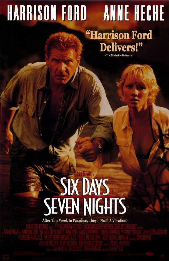 """Six Days Seven Nights"" classic survival drama/comedy movie starring Harrison Ford and the stunning Anne Heche"