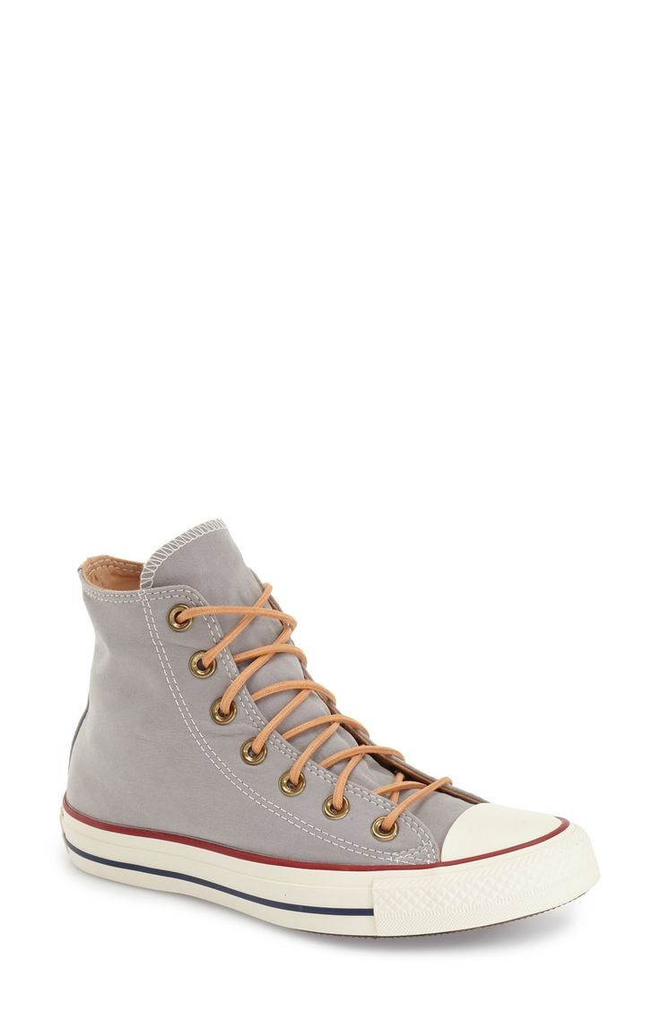 Free shipping and returns on Converse Chuck Taylor® All Star® 'Peached' High Top Sneaker (Women) at Fashiondoxy.com. A soft-to-the-touch, peach-fuzz-inspired canvas upper and lining add to the laid-back comfort of an iconic high-top sneaker, while the vul