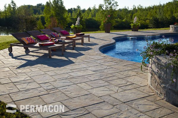 Late winter is the perfect time to plan your spring project. Come into our Bedford location and take a look at our Mondrian 50 slabs. They're perfect for your pool deck. Stop by today for your free quote.