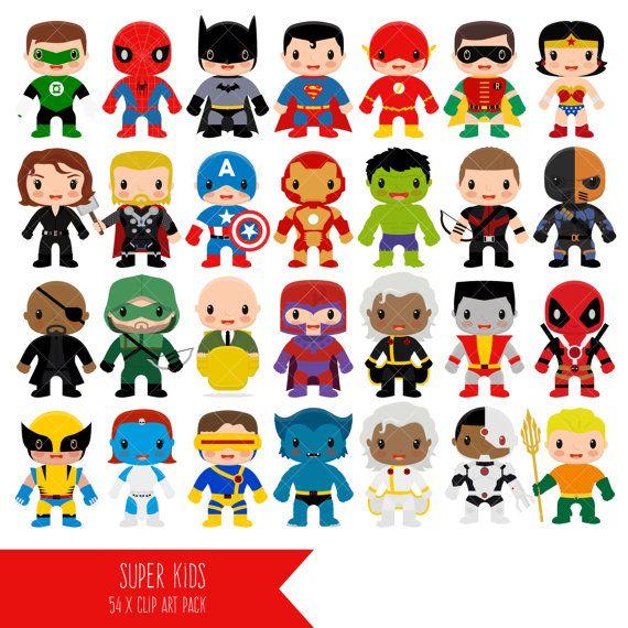 Imágenes Prediseñadas de superhéroe superhéroe Clip por ClipArtisan